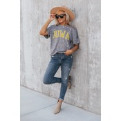 """Gameday Couture IOWA HAWKEYES """"BETTER TIMES"""" BLEACHED SPLASH-DYED TEE"""