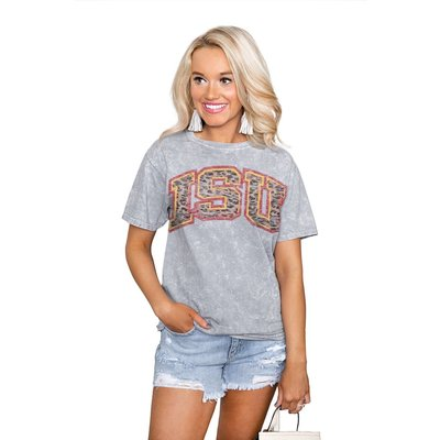 """Gameday Couture IOWA STATE CYCLONES """"SNAP"""" SNOW WASH SHORT SLEEVE TEE"""