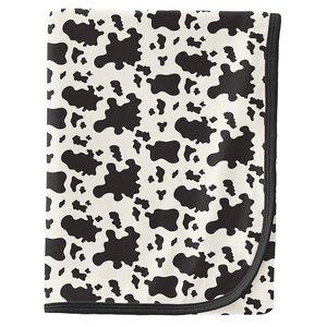 Kickee Pants Print Swaddling Blanket in Cow Print