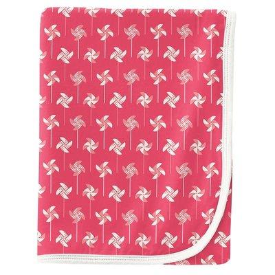 Kickee Pants Print Swaddling Blanket in Taffy Pinwheel