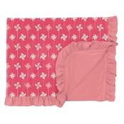 Kickee Pants Print Ruffle Toddler Blanket in Taffy Pinwheel