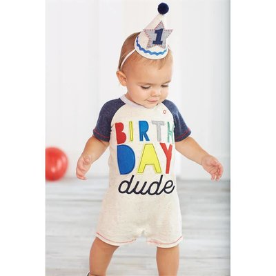 Mud Pie 1 BOY BIRTHDAY HAT