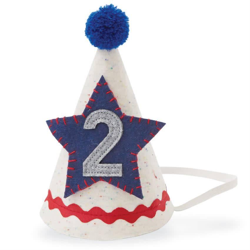 Mud Pie 2 BOY BIRTHDAY HAT - Lincoln Lexi b6acc3ef93a