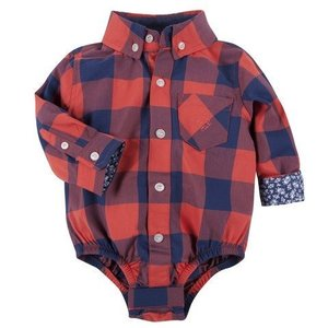 ANDY & EVAN Red Buffalo Check Shirtzie