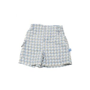 Kickee Pants BLUE CHECKER SHORT.5T