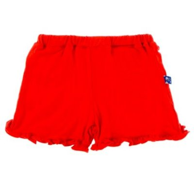 Kickee Pants Solid Ruffle Short (Poppy)