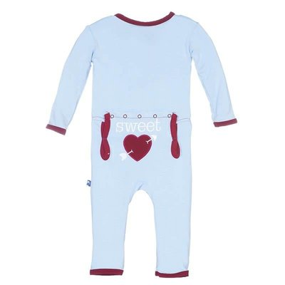 Kickee Pants Holiday Layette Applique Coverall (Pond Sweet Heart)
