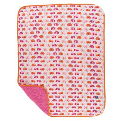 Kickee Pants Print Quilted Stroller Blanket (Natural Camper - One Size)
