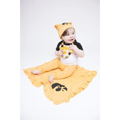 Kickee Pants Solid Double Knot Hat  (Fuzzy Bee)