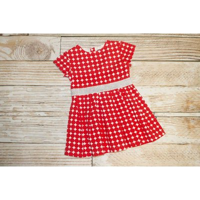 Toobydoo Red/White Dot Dress - 2T