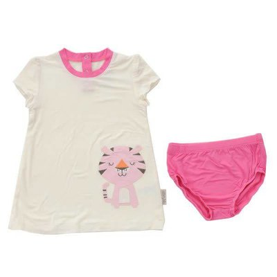 Silkberry baby Short Sleeve Dress with Bloomers
