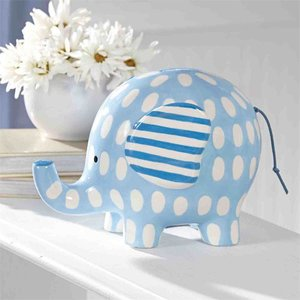 Mud Pie BLUE ELEPHANT BANK