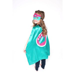 Lincoln&Lexi Superhero Cape-Crown-Teal
