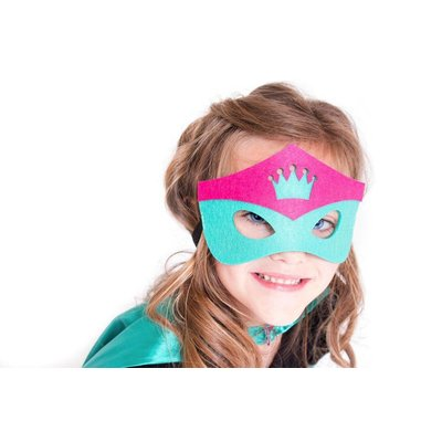 Superhero Cape-Crown-Teal