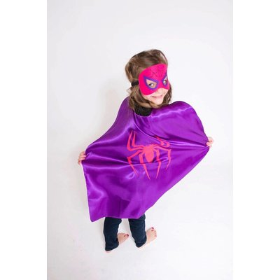 Lincoln&Lexi Superhero Cape & Mask Set-Spider Girl