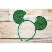 Lincoln&Lexi Sparkly Minnie Headband.Green/White