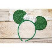Sparkly Minnie Headband.Green/White