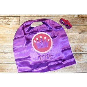 Lincoln&Lexi Purple Crown Cape & Mask Set