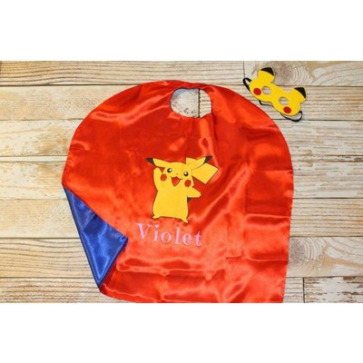Lincoln&Lexi Pikachu Cape & Mask Set