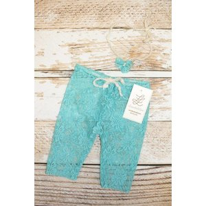 Newborn Mini Lace Legging & Headband Set