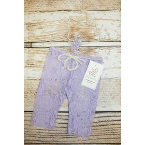 Lincoln&Lexi Newborn Mini Lace Legging & Headband Set