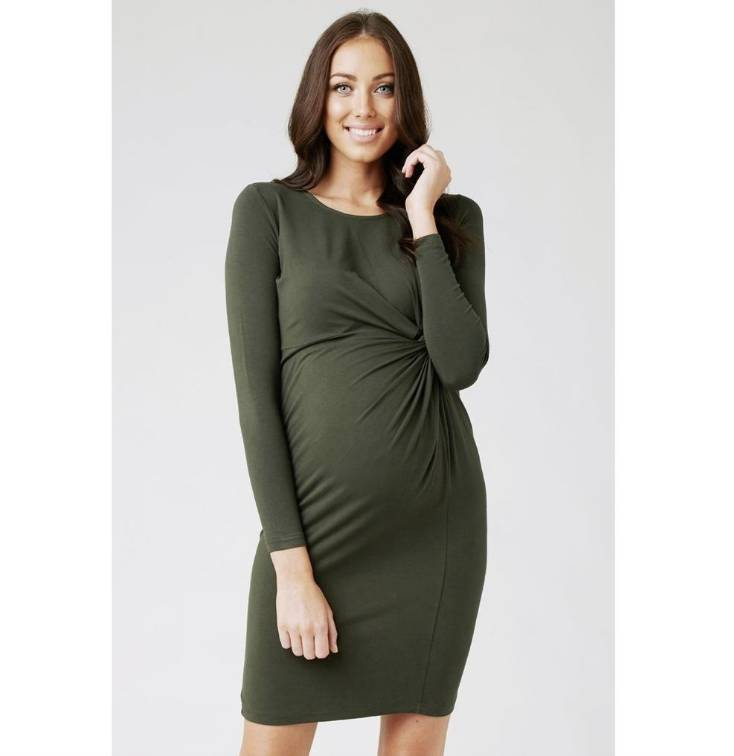 ca846cc48151 Ripe Maternity Side Knot Jersey Dress - Lincoln&Lexi