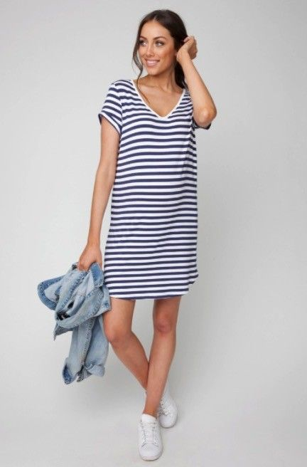 Ripe Maternity Relaxed T Shirt Dress Lincoln Lexi
