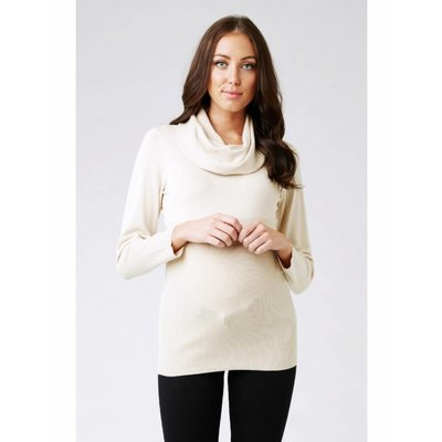 Ripe Maternity Cowl Neck Fitted Knit