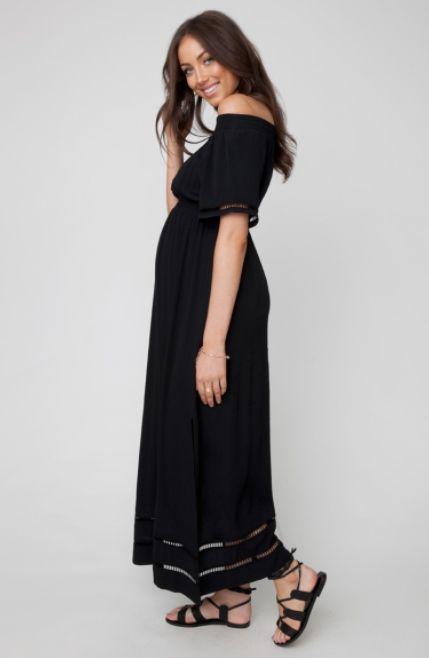 509b90373ec Ripe Maternity Cold Shoulder Maxi Dress - Lincoln Lexi