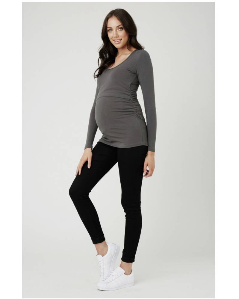 0c0fb13a64f Ripe Maternity Ali Up Down Nursing L S Tee - Lincoln Lexi