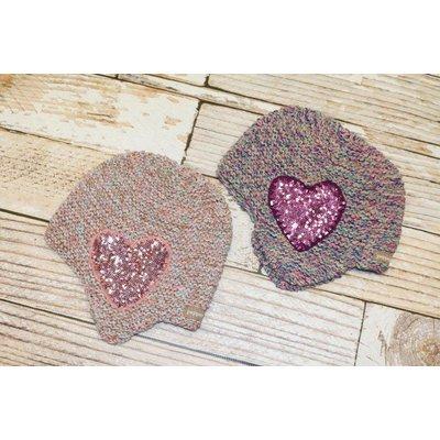 Sequin Heart Hat