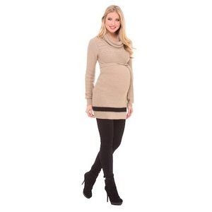Olian Cowl Neck Tie Sweater