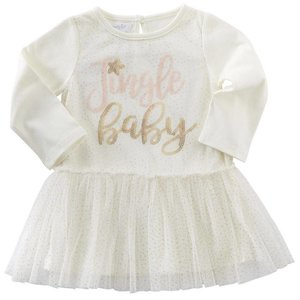 Mud Pie JINGLE BABY MESH OVERLAY DRESS