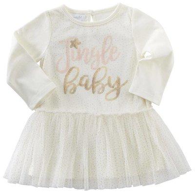 Mud Pie JINGLE BABY MESH OVERLAY DRESS