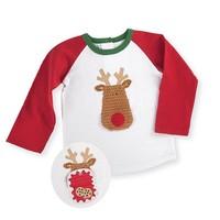 Mud Pie Open Mouth Reindeer Long Sleeve T Shirt