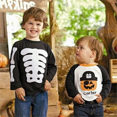 Mud Pie Boy Skeleton Shirt