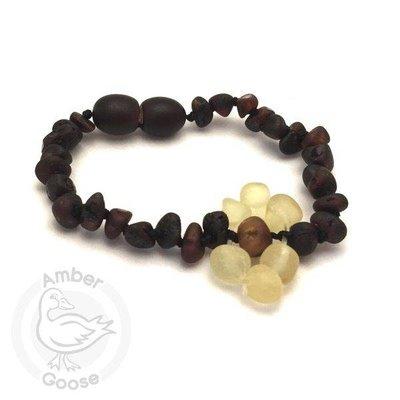 Momma Goose Flower Amber Bracelet