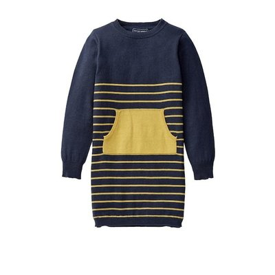 Toobydoo DRESS.YELLOW/NAVY STRIPES.4T