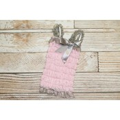 Lincoln&Lexi Lace Romper (Light Pink & Grey)