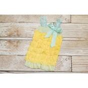 Lincoln&Lexi Lace Romper (Yellow & Aqua)