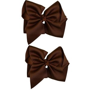 juDanzy Classic Extra Large Bow.Chocolate.5""