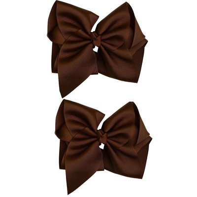"""Classic Extra Large Bow.Chocolate.5"""""""