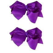 juDanzy Classic Extra Large Bow.Purple.5""