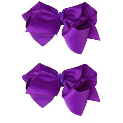 """Classic Extra Large Bow.Purple.5"""""""