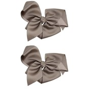 juDanzy Classic Extra Large Bow.Grey.5""