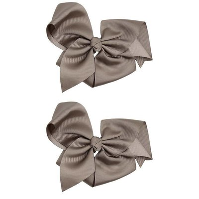 """Classic Extra Large Bow.Grey.5"""""""