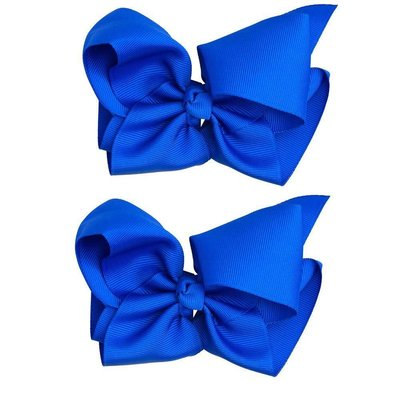 """Classic Extra Large Bow.Blue.5"""""""