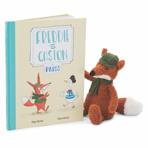 Jelly Cat Freddie and Gaston in Paris Book