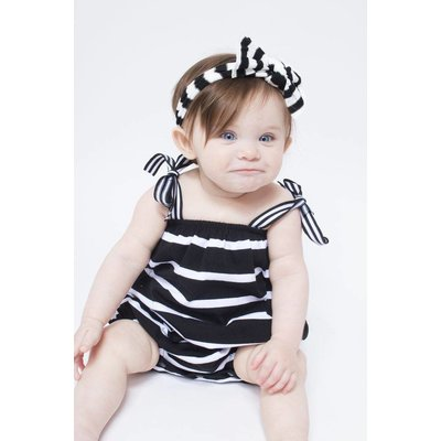 Baby Bling Patterned Knot (Black/White Stripe)