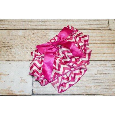 Chevron Satin Ruffle Diaper Covers